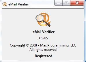 Phần mềm lọc Email sống hiệu quả nhất eMail Verifier