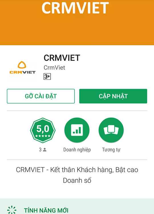 phần mềm crm cho android